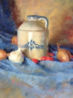 Jug and Blue Drape