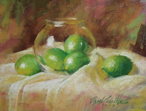 Limes in Glass 8×10 Pastel  $500