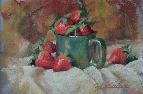 fresh berries  8×10 pastel
